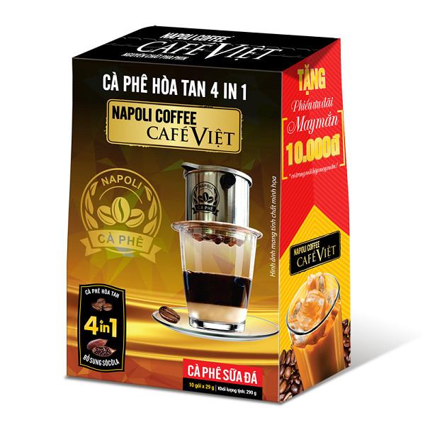 Napoli cà phê hòa tan 4in1 ( 10 gói)