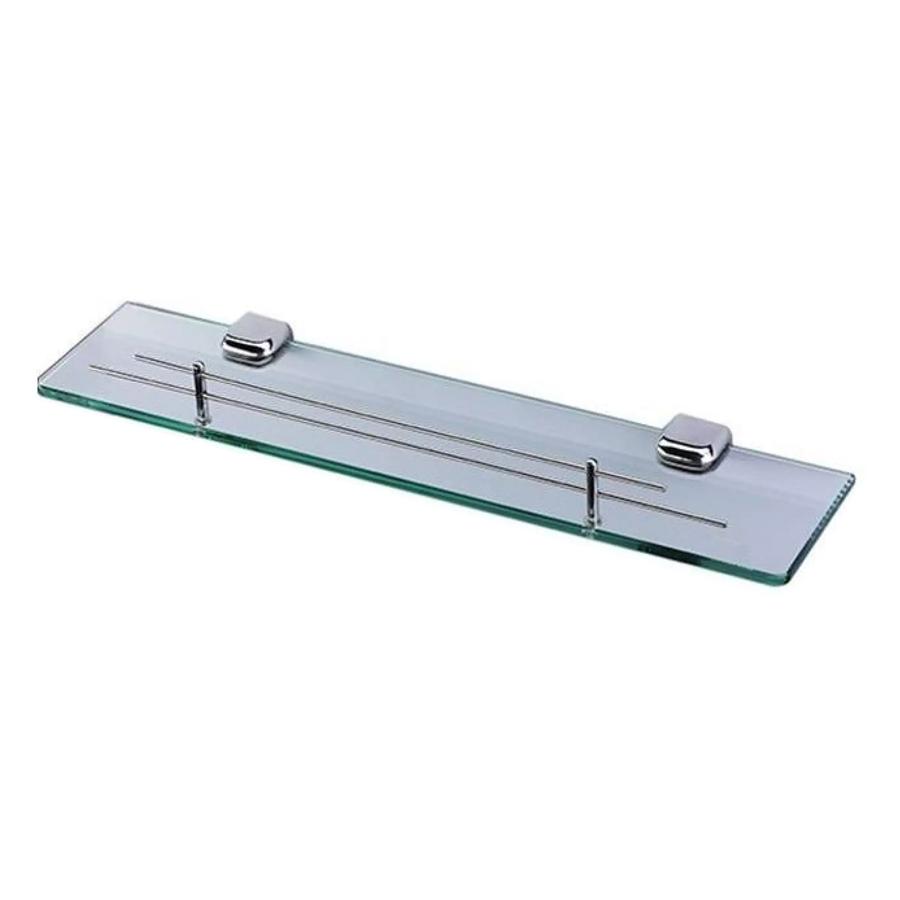 Kệ Gương Phòng Tắm Inox 304 Cao Cấp (Kính Cường Lực PE37) (500 x 120 x 10 mm)