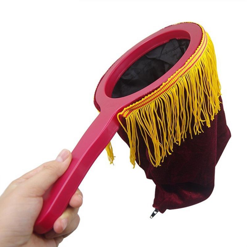 Đồ chơi dụng cụ ảo thuật với chiếc túi thú vị: Túi càn khôn có dây tua (Đỏ)