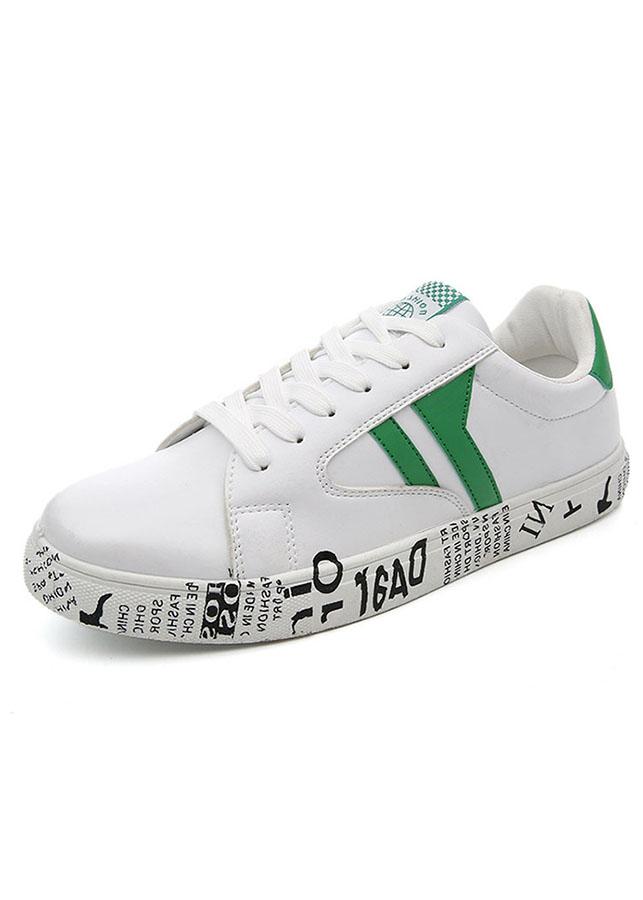 Giày sneaker nam thời trang thể thao da trắng ZARIS ZR5088