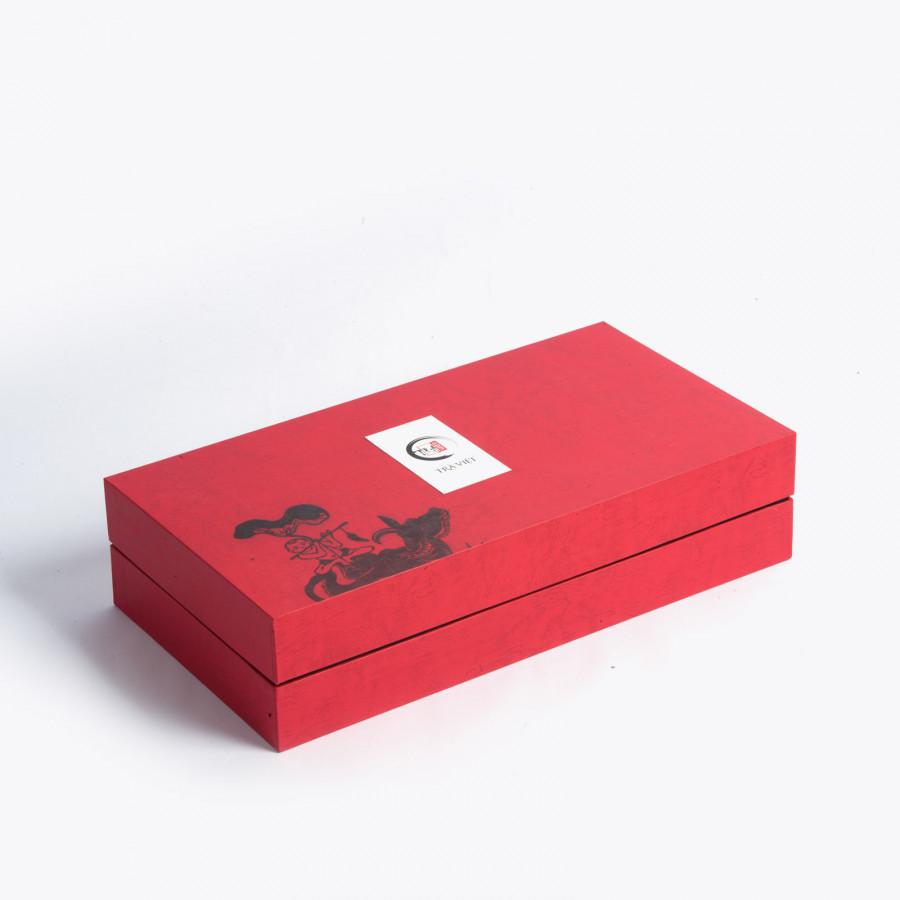 Hộp quà Tết trà Tứ Quý - Hồng Trà - Ô Long - Nõn Tôm - Tuyết