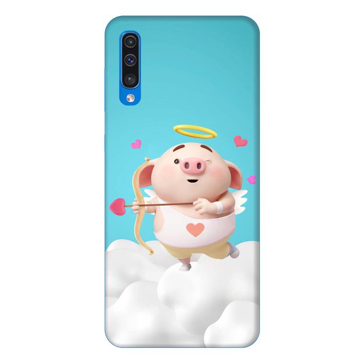 Ốp lưng dành cho điện thoại Samsung Galaxy A50 hình Heo Con Thần Tình Yêu - Hàng chính hãng