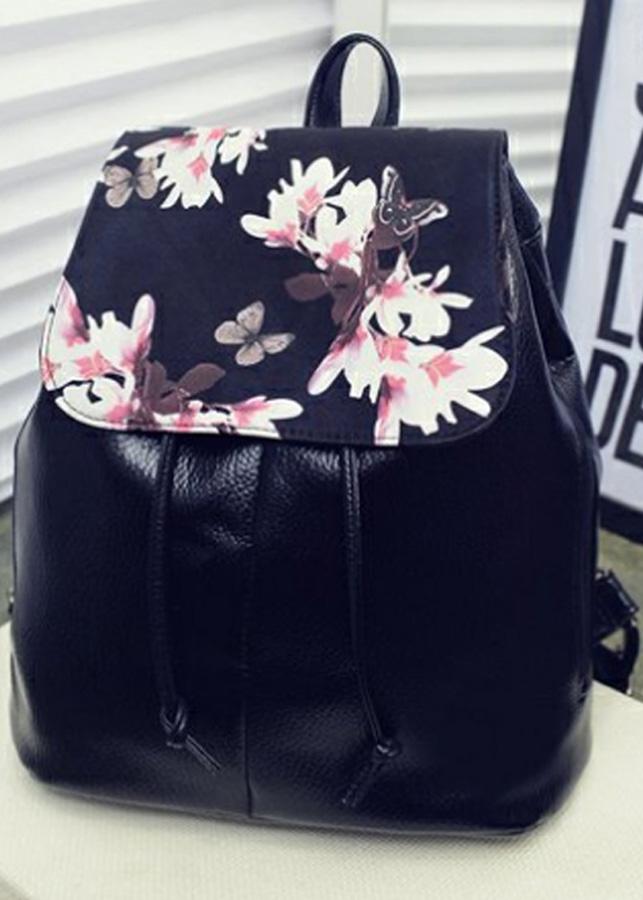 Balo Da Nữ Thời Trang Ohazo! Style Hàn Quốc Hình Bông Hoa - BL65