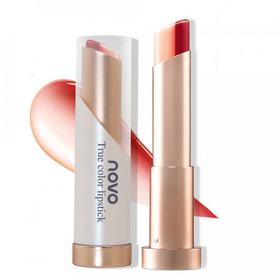Matte Lip Gloss Matte Lipstick Vivid Double Color Moisturizing Waterproof for NOVO #2