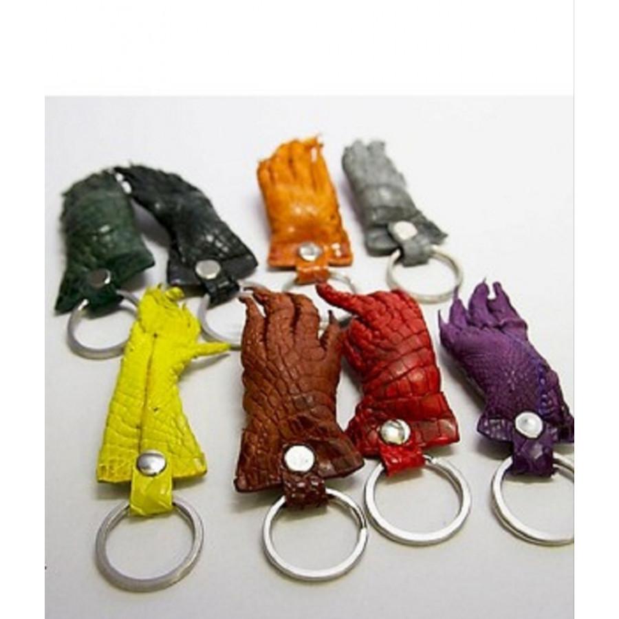Móc khóa bàn chân cá sấu  _ nhiều màu