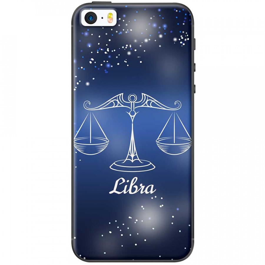Ốp lưng  dành cho iPhone 5, iPhone 5s mẫu Cung hoàng đạo Libra (xanh)