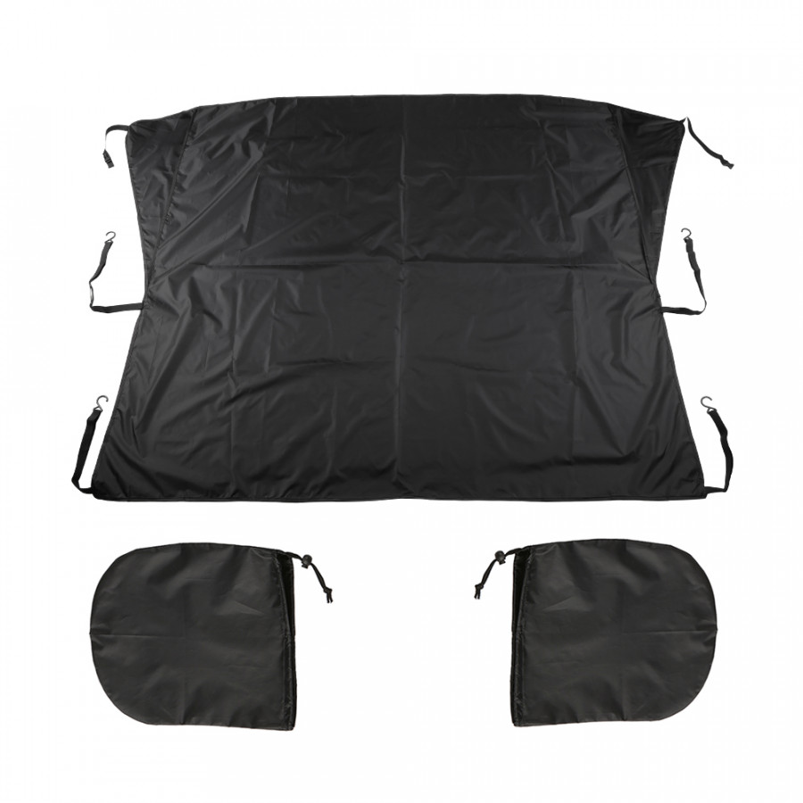 Car Windshield Snow Cover Window Cover Sunshade Snow Covers Winter Summer Auto Sun Shade Protector with Mirror Covers