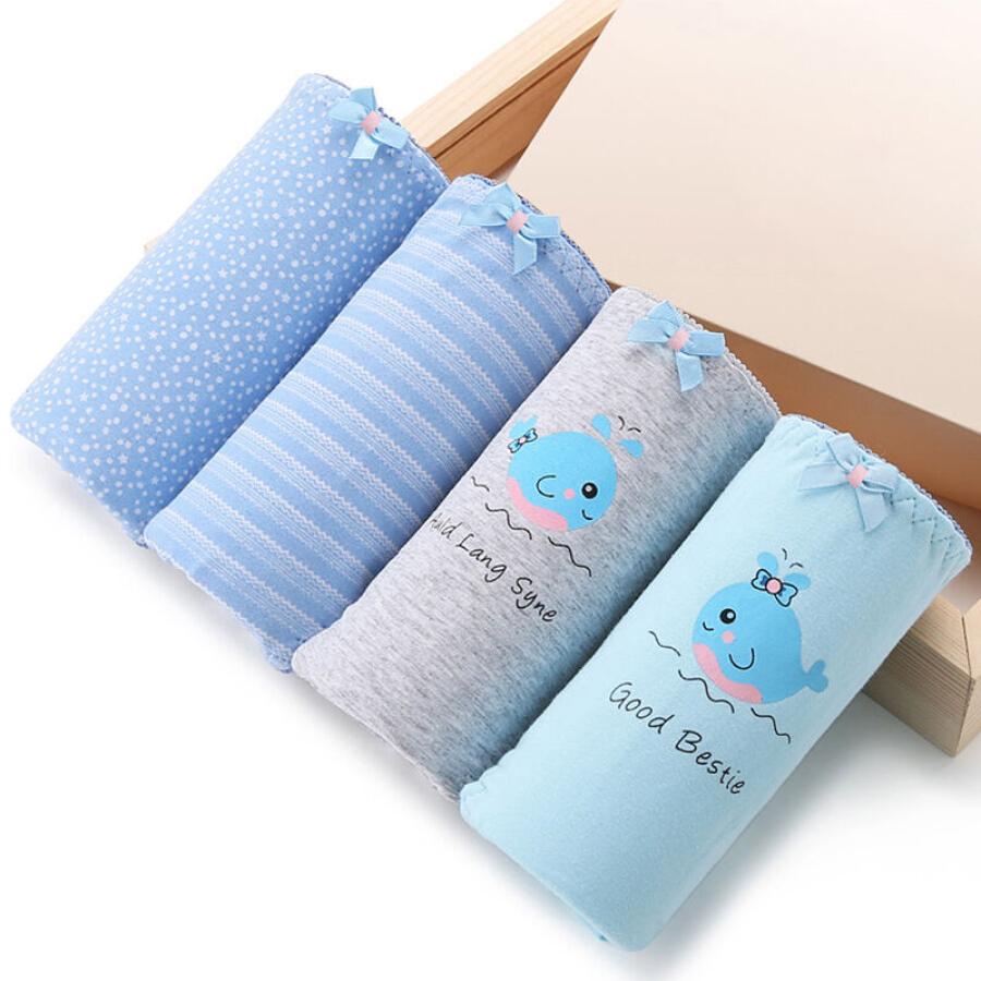Quần Lót Nữ Vải Cotton Lưng Cao MEIYATING (4 Cái)