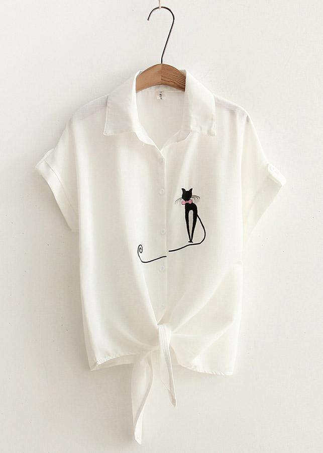 Áo Sơ Mi Nữ Mèo Xinh 514