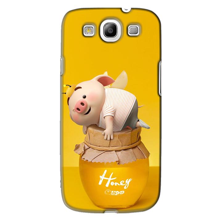 Ốp lưng nhựa cứng nhám dành cho Samsung Galaxy S3 in hình Heo Cute