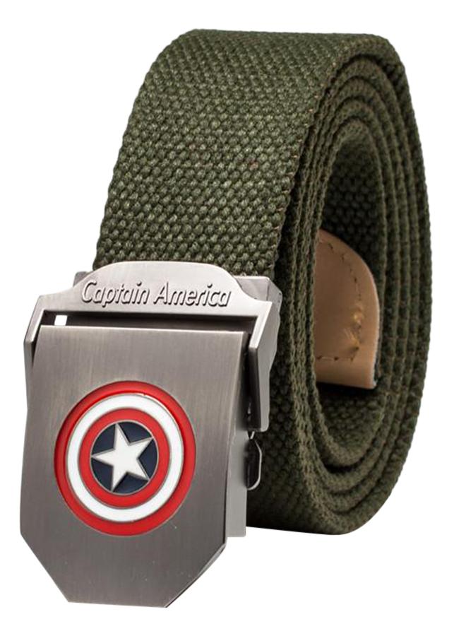 Thắt Lưng Vải Dù Nữ Mặt Khoá Hợp Kim Mặt Captain America - Màu 4