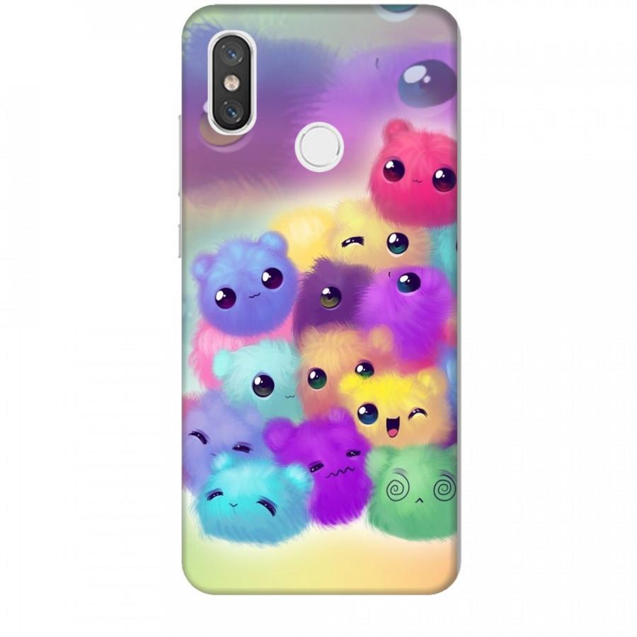 Ốp lưng dành cho điện thoại XIAOMI MI 8 Mèo Con Ngũ Sắc