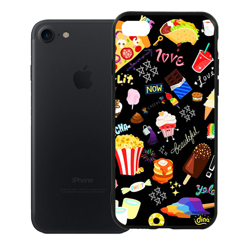 Ốp Lưng Viền TPU Cao Cấp Dành Cho iPhone 7 - Food