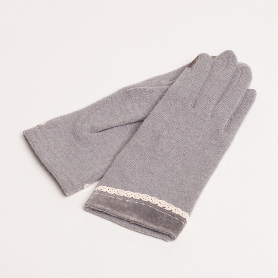Le for comme lavie touch screen gloves ladies fall winter wool points to keep warm gloves fashion cute women