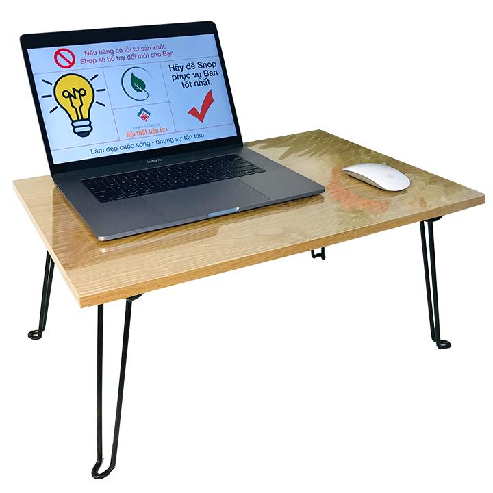 Bàn Laptop xếp gọn tiện lợi 60x40 - bàn gỗ MDF phong cách
