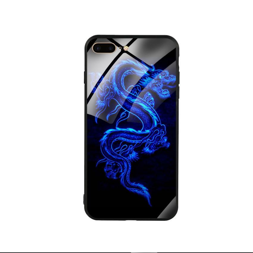 Ốp lưng kính cường lực cho điện thoại Iphone 7 Plus / 8 Plus - Dragon 02
