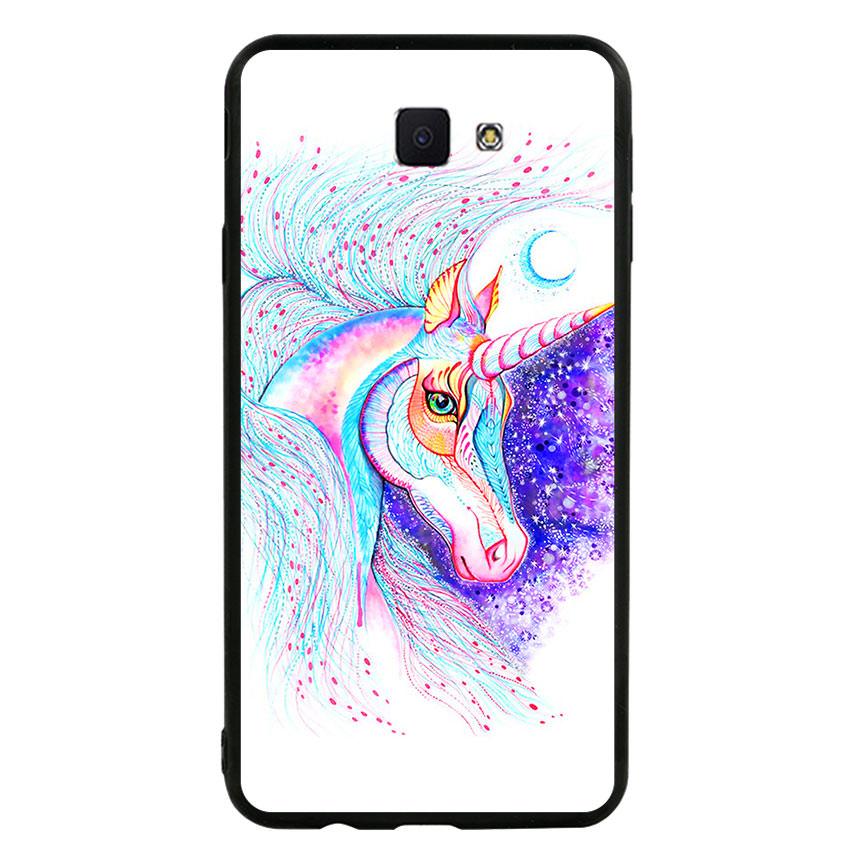 Ốp lưng nhựa cứng viền dẻo TPU cho điện thoại Samsung Galaxy J7 Prime - Horse 01
