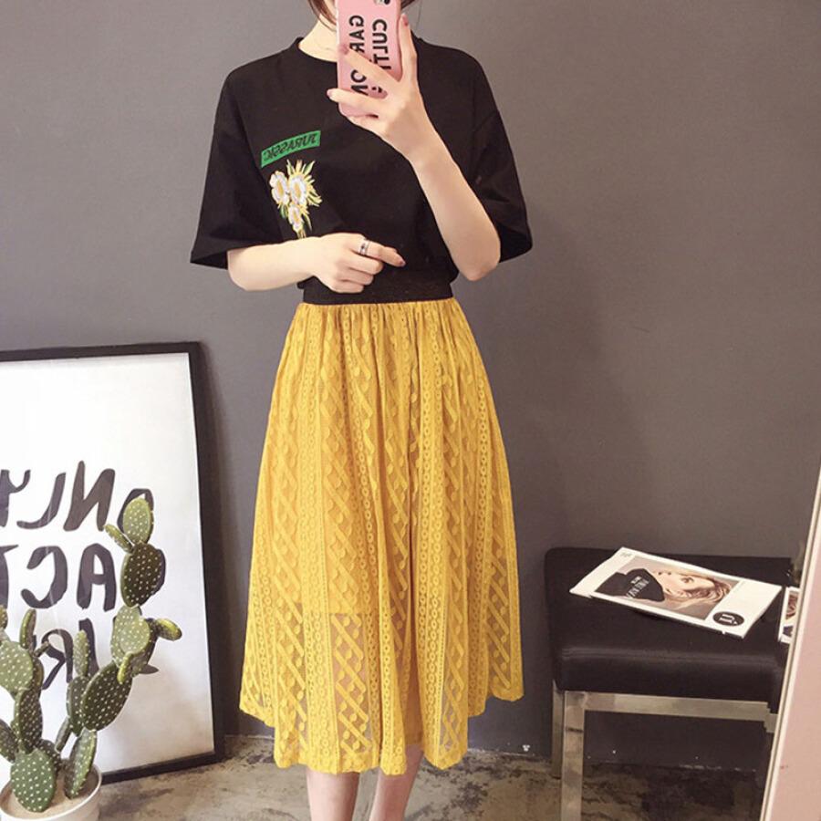 Áo Phông Ngắn Tay + Váy Ren Dài Thời Trang Langyue - 4535402 , 7075986326263 , 62_8659487 , 611000 , Ao-Phong-Ngan-Tay-Vay-Ren-Dai-Thoi-Trang-Langyue-62_8659487 , tiki.vn , Áo Phông Ngắn Tay + Váy Ren Dài Thời Trang Langyue