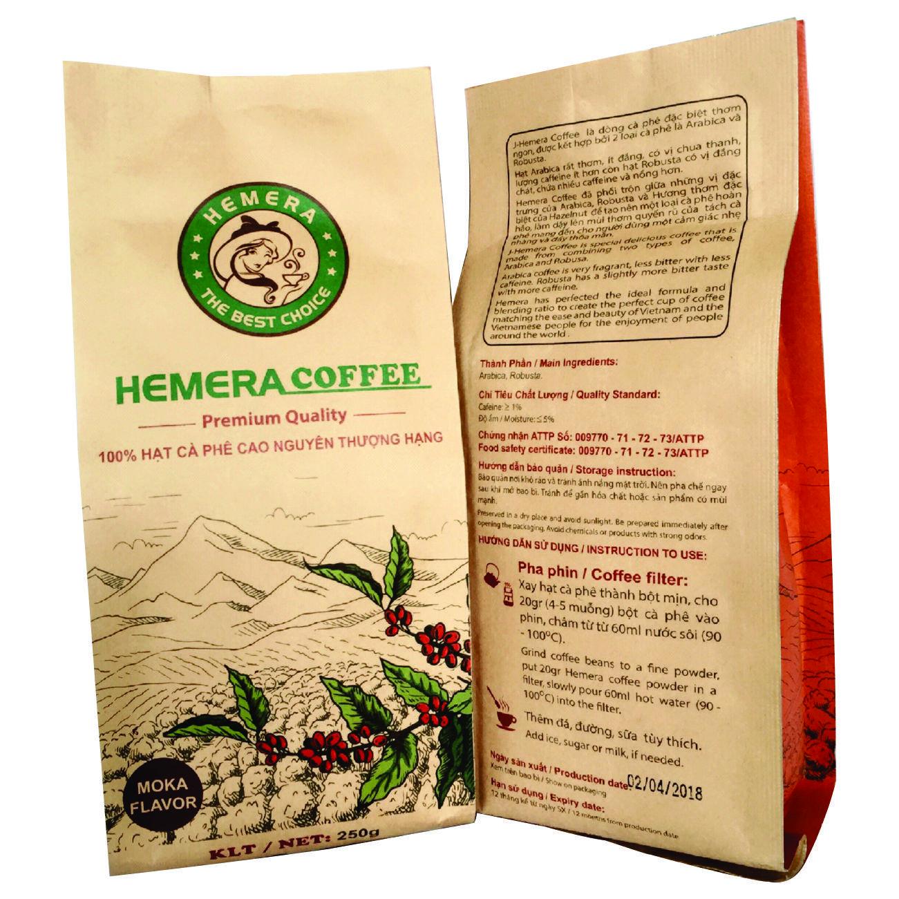 Cà phê rang xay nguyên chất 100% J- Hemera  (Moka Flavor) - 940041 , 4691254181803 , 62_2053883 , 80000 , Ca-phe-rang-xay-nguyen-chat-100Phan-Tram-J-Hemera-Moka-Flavor-62_2053883 , tiki.vn , Cà phê rang xay nguyên chất 100% J- Hemera  (Moka Flavor)