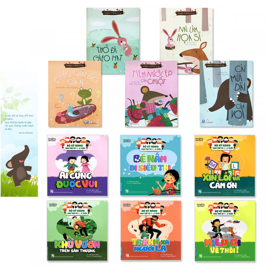 Combo 2 bộ sách hay giúp bé ứng xử tuổi mầm non: 5 cuốn Chuyện Ở Rừng Vi Vu (5 cuốn), 6 cuốn Bộ kỹ năng cho bé...