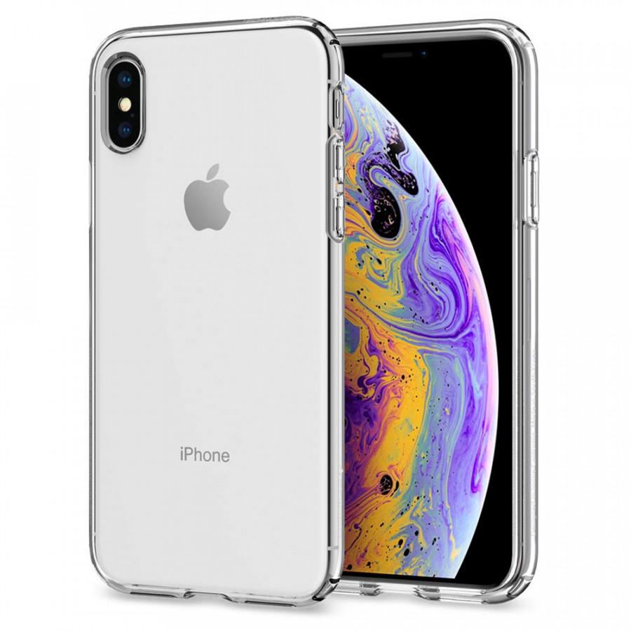 Ốp lưng cho iPhone XS / iPhone X Spigen Liquid Crystal (Trong suốt) - Hàng chính hãng