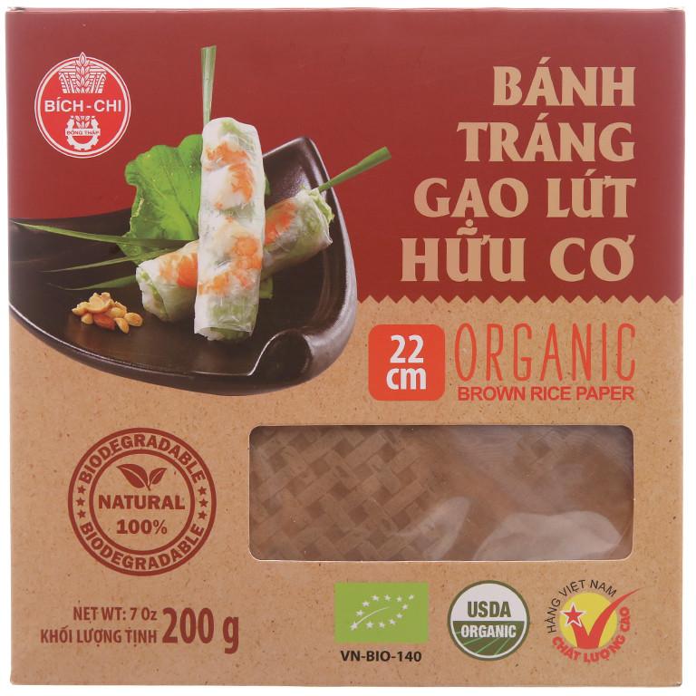 Combo 3 hộp Bánh tráng gạo lứt hữu cơ Bích Chi 200g