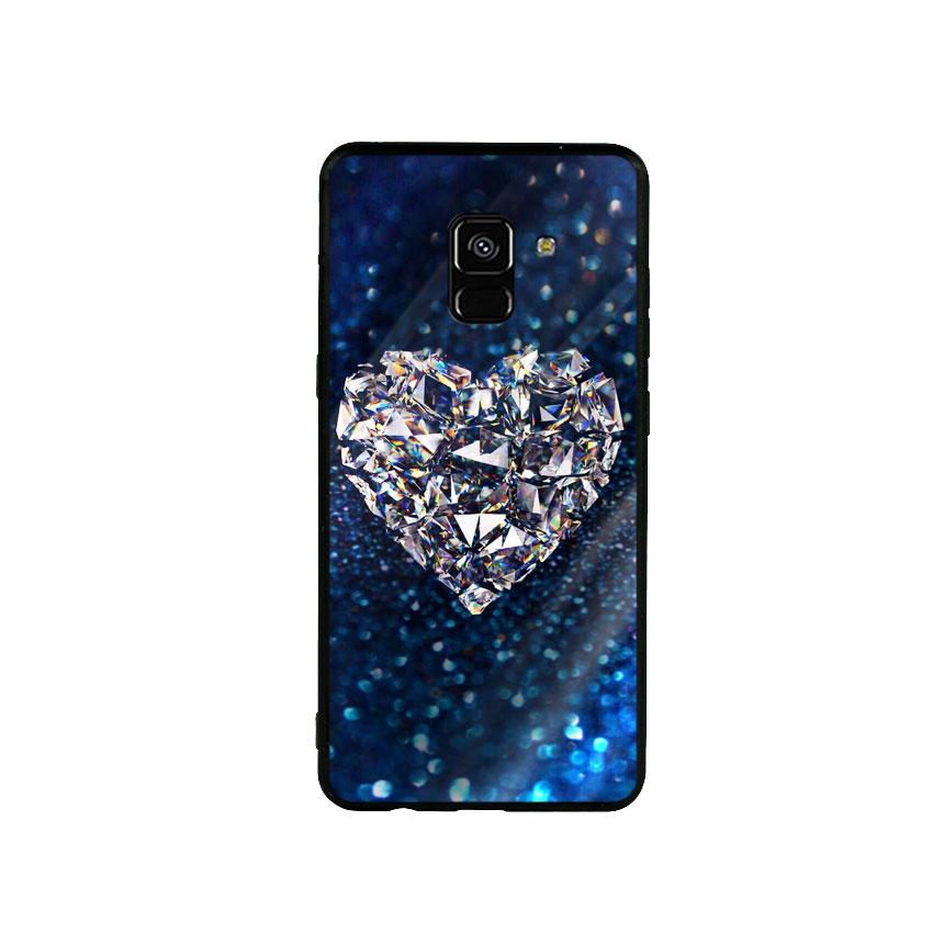 Ốp Lưng Kính Cường Lực cho điện thoại Samsung Galaxy A8 2018 - Heart 11