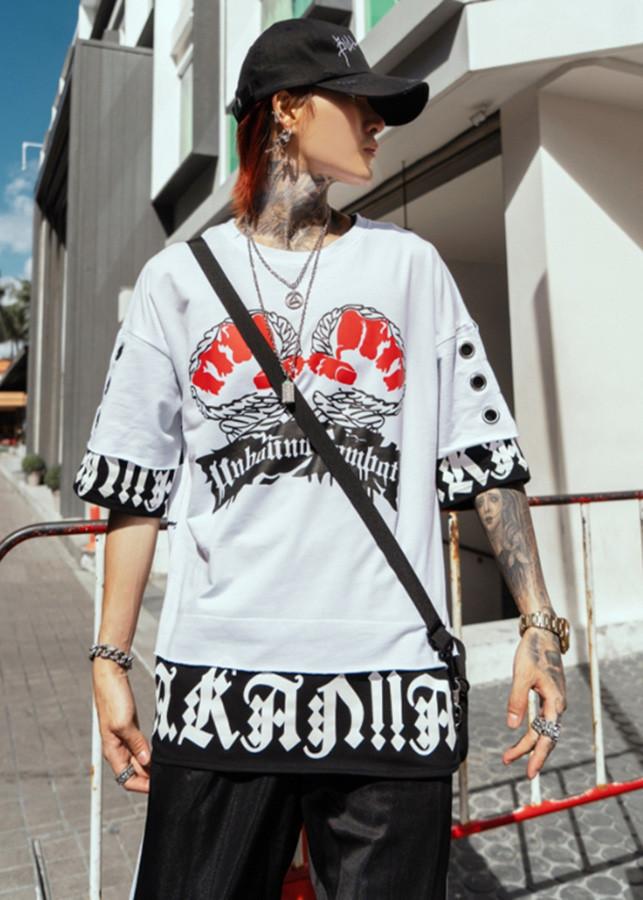 Áo thun tay lỡ, áo thun unisex nam form rộng BAT17