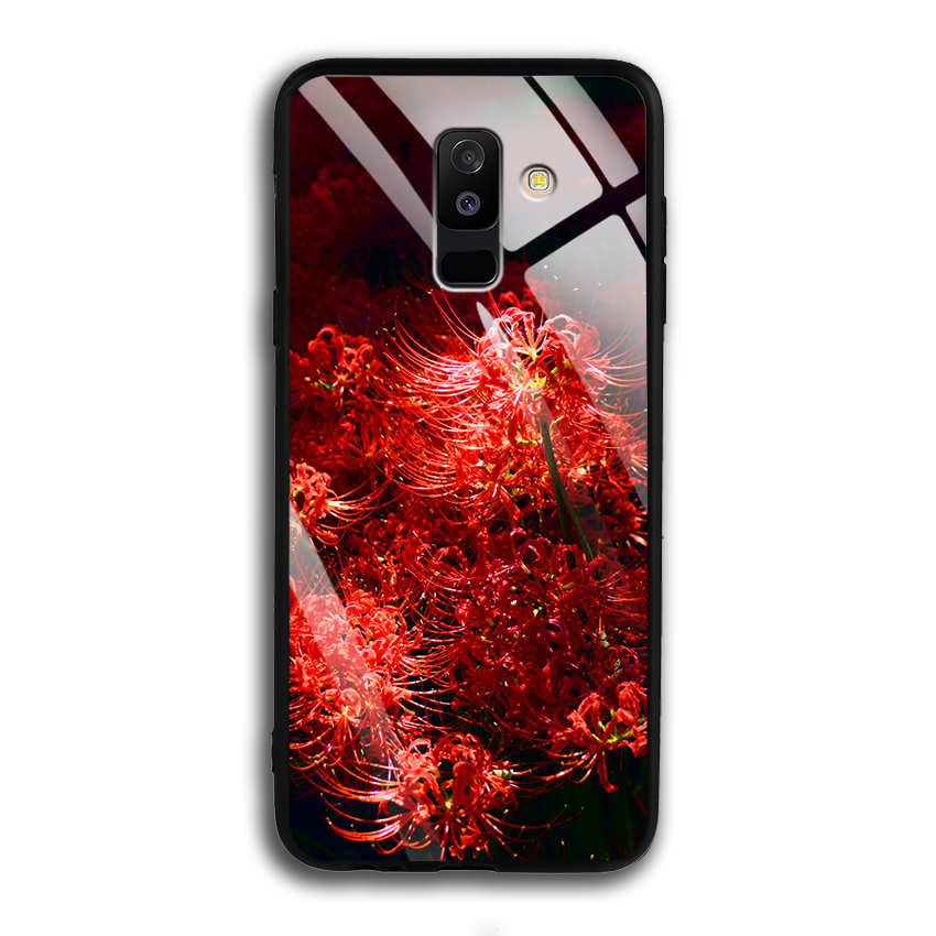 Ốp Lưng Kính Cường Lực cho điện thoại Samsung Galaxy A6 Plus 2018 - 03009 0592 HOABINGAN03 - In hình Hoa Bỉ Ngạn - Hàng...