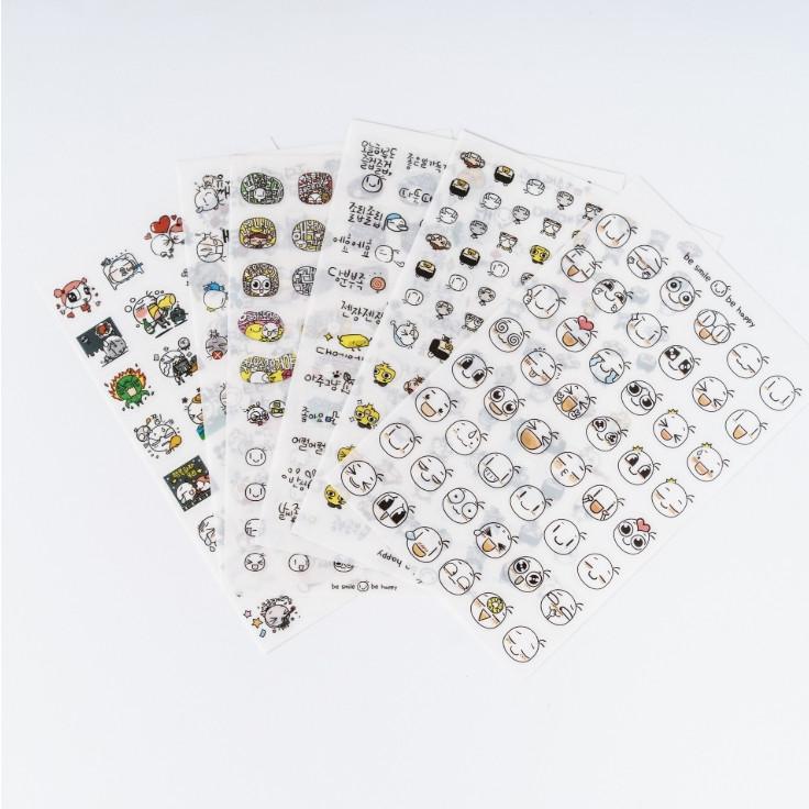 Bộ 6 tấm sticker trang trí TZ16-008