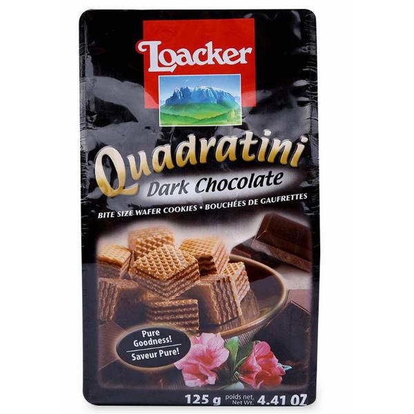 Bánh Xốp Loacker Quadratini Dark Chocolate (125g)