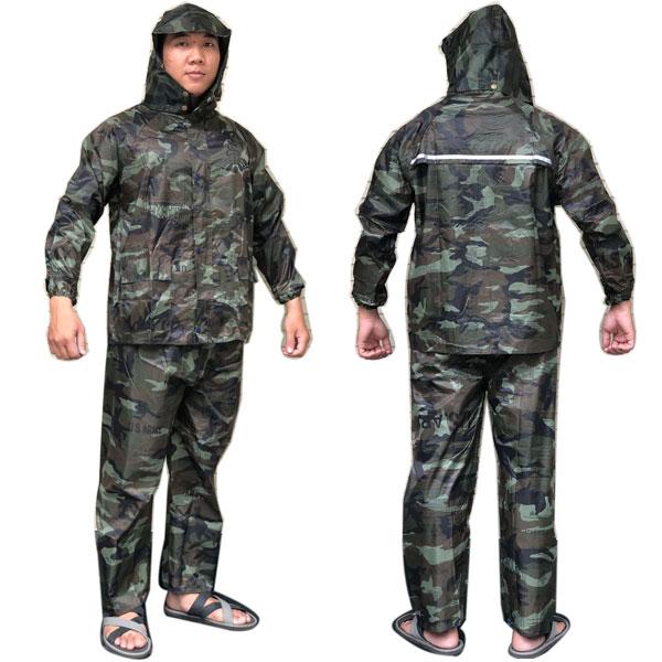 Bộ Áo Mưa Vải Dù Cao Cấp 2 Lớp Size XXXL Chống Thấm