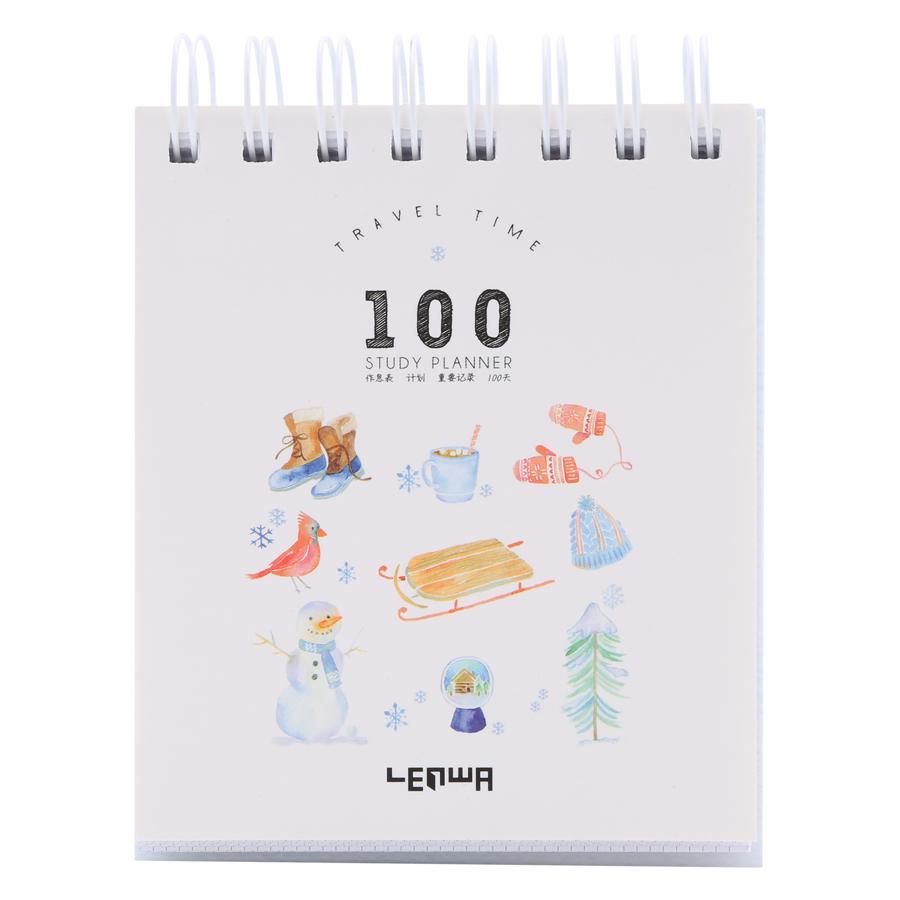 Sổ Kế Hoạch Lò Xo 100 Ngày - 100 Days Daily Planner Notebooks - Mùa Đông (10.6 x 12.4 cm) - 1272735 , 4264824126759 , 62_10863262 , 81000 , So-Ke-Hoach-Lo-Xo-100-Ngay-100-Days-Daily-Planner-Notebooks-Mua-Dong-10.6-x-12.4-cm-62_10863262 , tiki.vn , Sổ Kế Hoạch Lò Xo 100 Ngày - 100 Days Daily Planner Notebooks - Mùa Đông (10.6 x 12.4 cm)