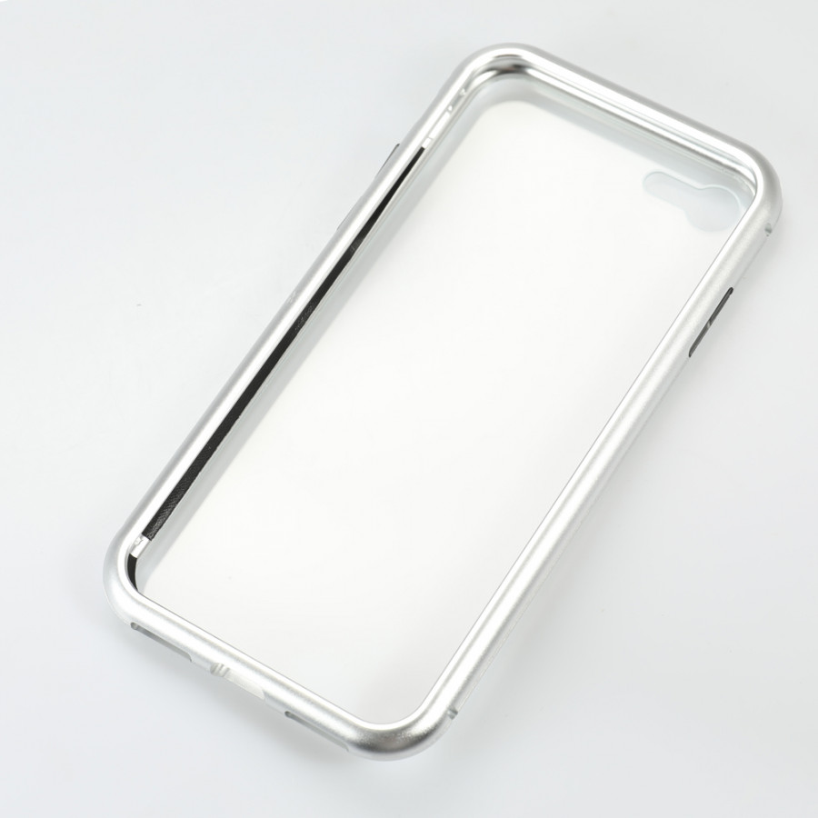 Metal-rimmed Mobile Phone Case Hardened Glass Magnetic Adsorption Protection Smartphone Cover Bumper Luxury Aluminum - 2289657 , 9764176320010 , 62_14703814 , 256000 , Metal-rimmed-Mobile-Phone-Case-Hardened-Glass-Magnetic-Adsorption-Protection-Smartphone-Cover-Bumper-Luxury-Aluminum-62_14703814 , tiki.vn , Metal-rimmed Mobile Phone Case Hardened Glass Magnetic Adsorption