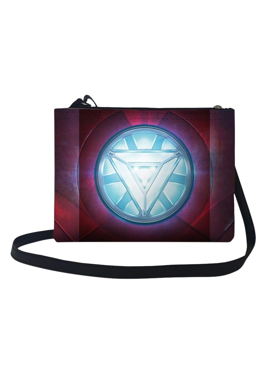 Túi Đeo Chéo Nữ In Hình Logo Siêu Anh Hùng