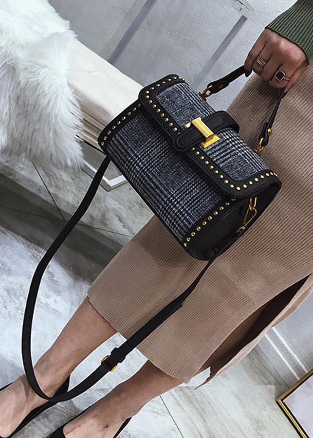 Túi xách thời trang gam màu cổ điển 98113