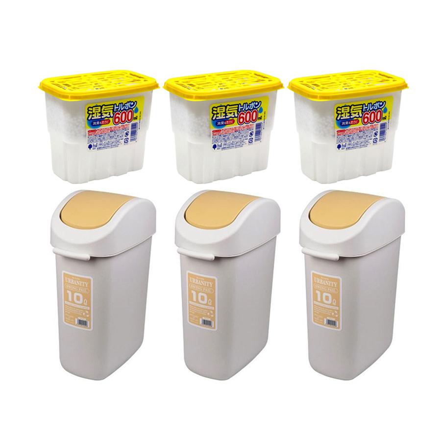 Combo Thùng rác nắp xoay vàng + Hộp hút ẩm 600ml - Nội địa Nhật Bản - 2017865 , 9068894045126 , 62_10595675 , 1650000 , Combo-Thung-rac-nap-xoay-vang-Hop-hut-am-600ml-Noi-dia-Nhat-Ban-62_10595675 , tiki.vn , Combo Thùng rác nắp xoay vàng + Hộp hút ẩm 600ml - Nội địa Nhật Bản