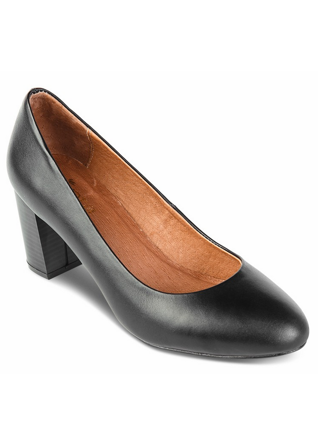 Giày Da Công Sở Nữ Mũi Tròn