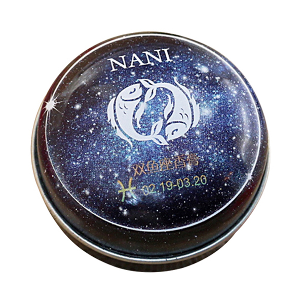 12 Signs Constellation Perfumes Unisex Zodiac Magic Solid Deodorant Solid Fragrance Portable Tin Box Balm For Women Men