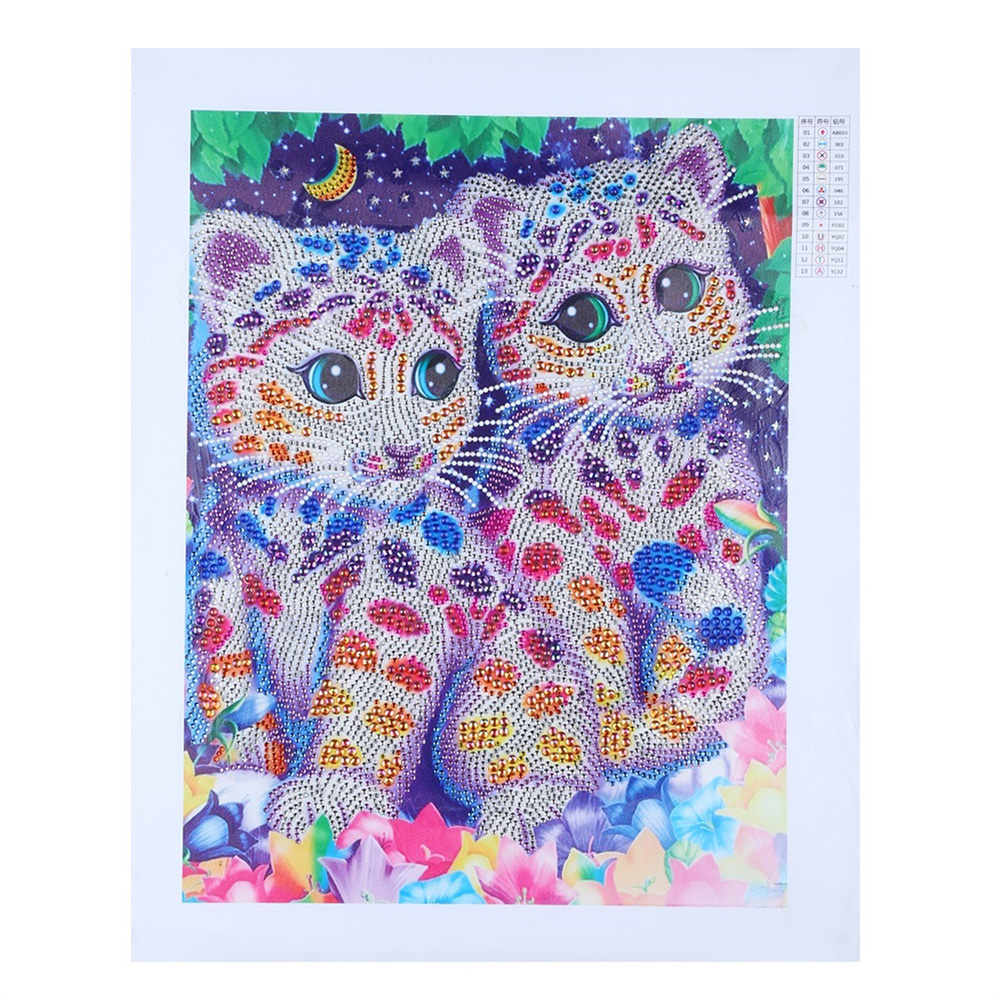 Diamond Painting DIY 5D Diamond Painting Colorful Cat Special Shape Diamond Paintings Kits Arts Craft for Room Wall