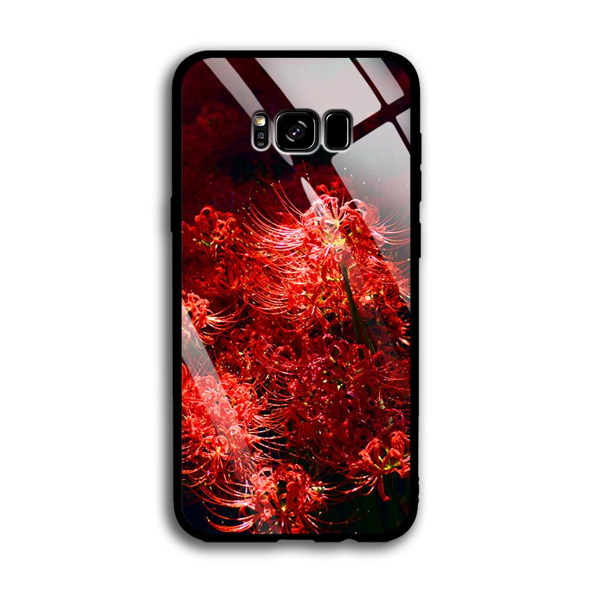 Ốp Lưng Kính Cường Lực cho điện thoại Samsung Galaxy S8 Plus - 03022 0592 HOABINGAN03 - In hình Hoa Bỉ Ngạn - Hàng Chính...