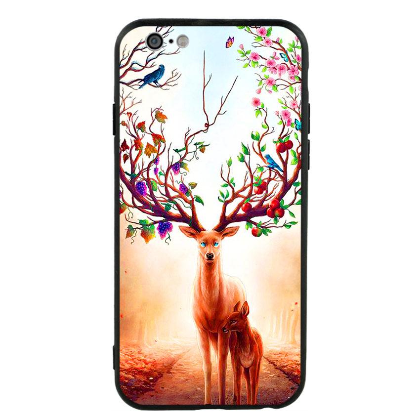 Ốp Lưng Viền TPU cho điện thoại Iphone 6/6s -Deer 01