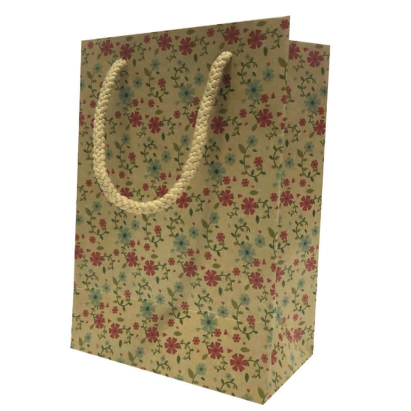 50 Túi Giấy K01 ( 17 x 12 x 7) - đỏ