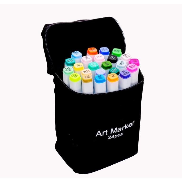 Bộ 24 bút dạ quang Art Marker (Kèm túi đựng)