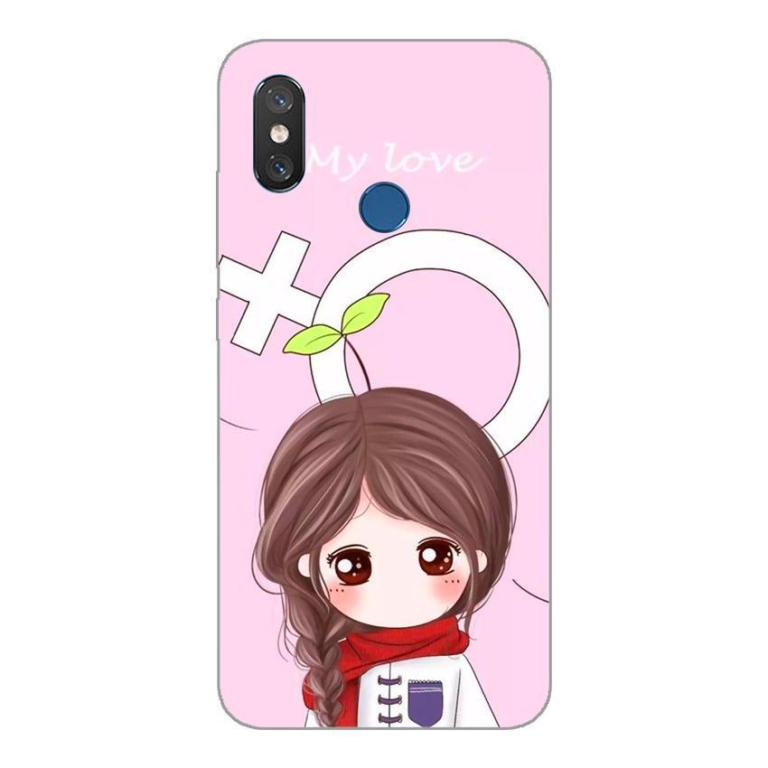 Ốp lưng dẻo cho Xiaomi Mi 8_Couple Girl 06