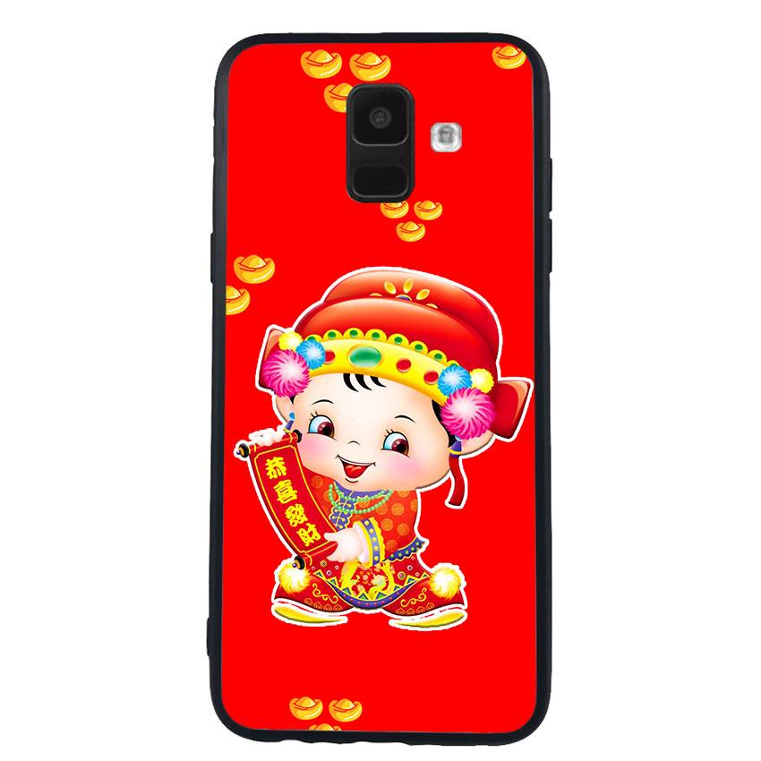 Ốp Lưng Viền TPU cho điện thoại Samsung Galaxy A6 - Thần Tài 05
