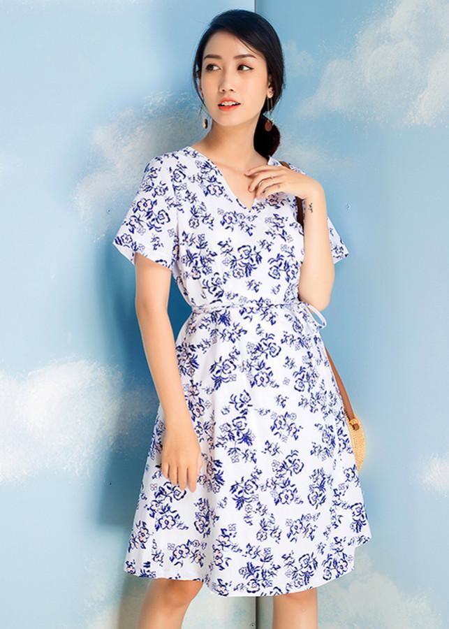 Đầm Maxi Nữ Họa Tiết Doric