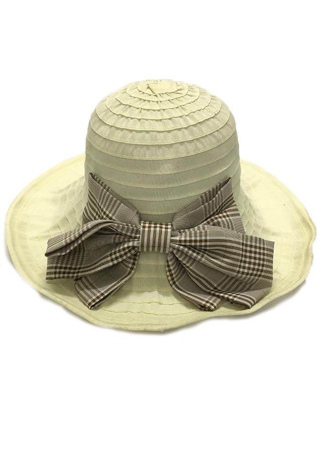 Mũ vải vành rộng đính nơ - totdepreHH1075