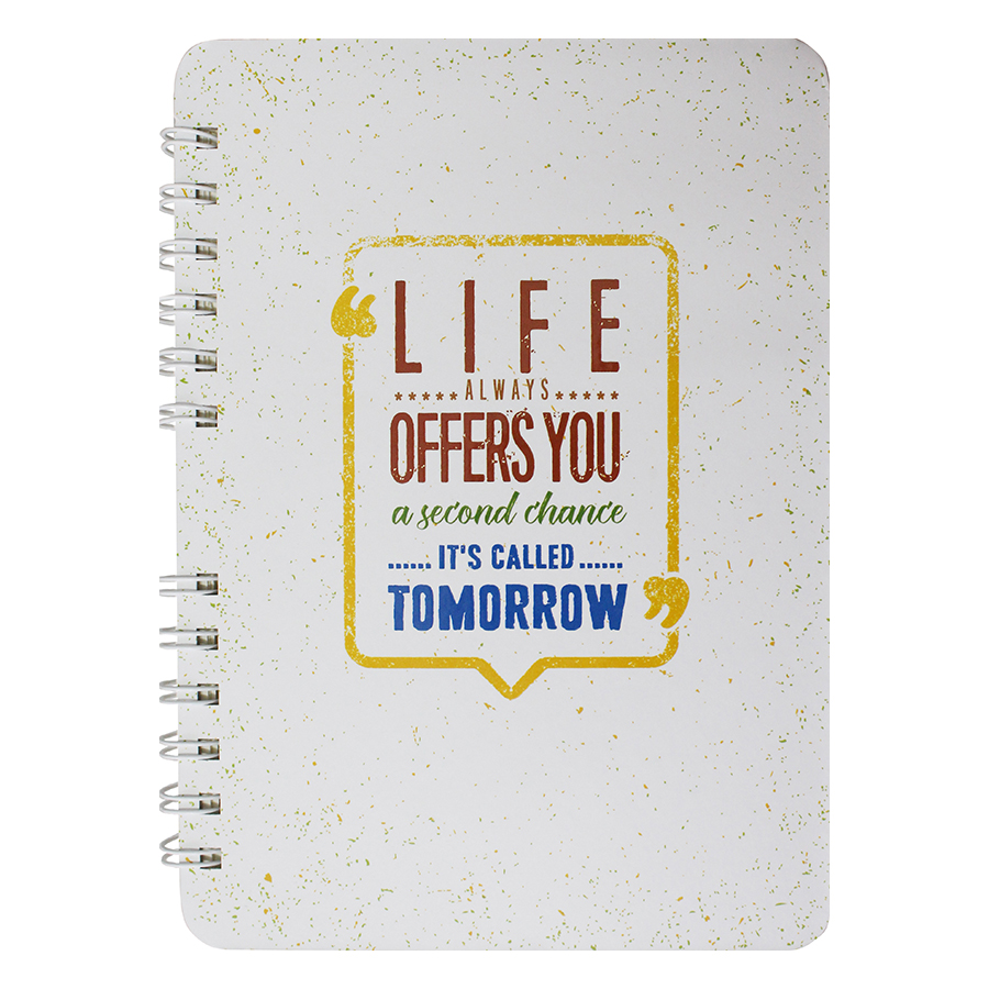Notebook Life Always Offers You A Second Chance - Its Called Tomorrow - 5265877 , 9988154879639 , 62_16053889 , 90000 , Notebook-Life-Always-Offers-You-A-Second-Chance-Its-Called-Tomorrow-62_16053889 , tiki.vn , Notebook Life Always Offers You A Second Chance - Its Called Tomorrow