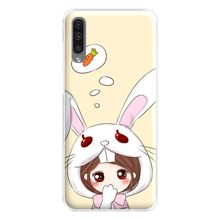 Ốp lưng dẻo cho điện thoại Samsung Galaxy A50 - 224 0043 COUPLEGIRL05